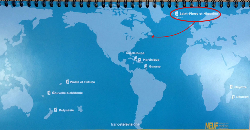 saint pierre et miquelon sur la carte du monde
