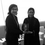 Avec la Ministre Loubna BINT KHALED AL QASIMI