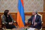 Avec le Président de la République arménienne