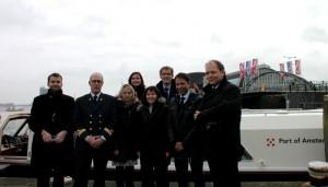 Avec la direction du Port d'Amsterdam ©Ambassade de France aux Pays-Bas